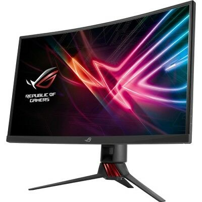 ASUS ROG Strix 27  Curved Gaming Monitor Gray And Red  -  1920 x 1080 Full HD Di