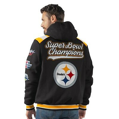 new arrival 29e93 26ff3 PITTSBURGH STEELERS 6 Time Super Bowl Champions Hooded Bullpen Fleece Jacket