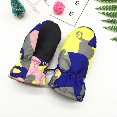 Hot Baby Winter Warm Waterproof Mittens Boy Girl Kids Outdoor Child Gloves Gifts