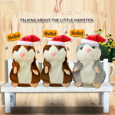 212B Cheeky Hamster Talking Walking Nodding Sound Record Electric Toy Xmas Gifts