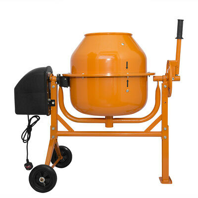 70 LITRE New Large Professional 250W PORTABLE ELECTRIC CONCRETE CEMENT MIXER UK