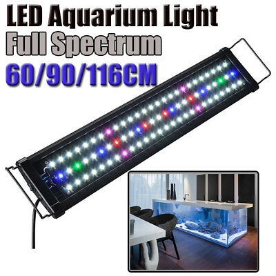 60 90 116cm Aquarium LED Light Lighting Full Spectrum Aqua Plant Fish Tank Lamp