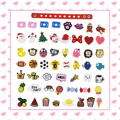 Souvenir Kids Gift 50pcs Cute Mixed Shoe Adapter Charm For Beach Clog Bracelets
