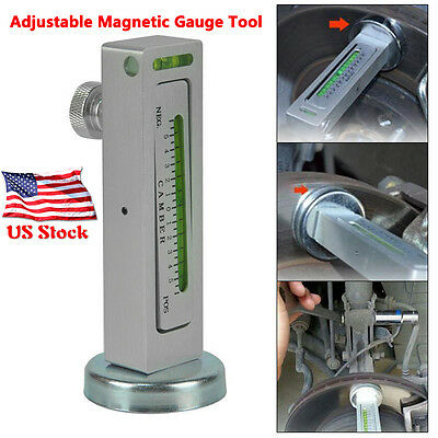 NEW Adjustable Magnetic Gauge Tool Camber Castor Strut Wheel Alignment Truck Car