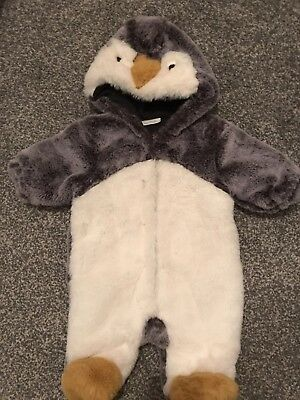 Next Baby Penguin Outfit 0-3months Pramsuit Coat Fluffy Snowsuit