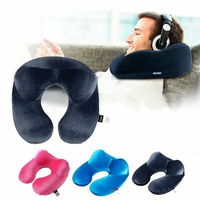 Inflatable U-Shape Travel Pillow For Airplane Travel Accessories Neck Cushion