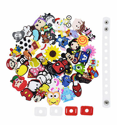 US Stock Party Gift 50pcs Mixed Different Random Croc Charm Fit Wristband