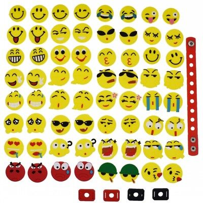 Giveaways Kids Gift 64pcs Mixed Emoji Shoe Adapter Charm Fit Clog Wriatbands