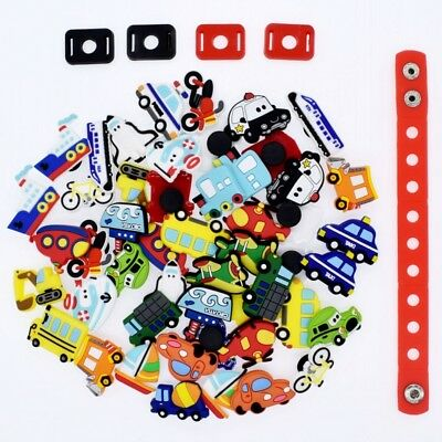 Party Boys Gift 50pcs Mixed Vehicle Cars Shoe Adapter Charms For Clog Bracelets