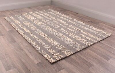 Fusion Bondi Natural Multi Coloured Luxury Handtufted Wool Rug in various sizes