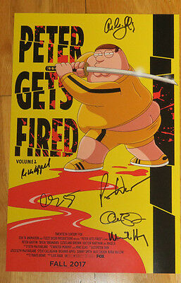 FAMILY GUY Signed Poster SDCC 2017 Comic Con FOX