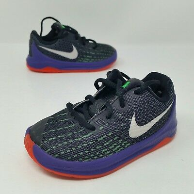 c7d7e2f2f619 NIKE KD KEVIN Durant VIII 8 Black Orange Baby Toddler Size 8 C Shoes ...