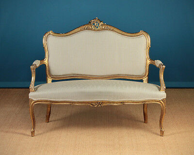Antique French Belle Epoch Louis XV Style Couch c.1900.