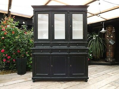 Wow! Victorian Style Pine & Painted Glazed Cabinet/ Dresser/cupboard. We Deliver