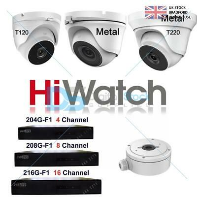 Hiwatch Hikvision THC-T120 2mp HD 1080p TVI Dome Camera DVR CCTV Metal Junction