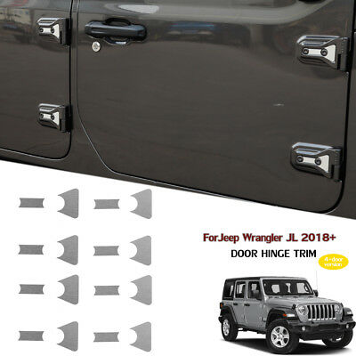 16pcs Door Hinge Cover Decal Sticker Trim 4-Dr For Jeep Wrangler JL Accessories