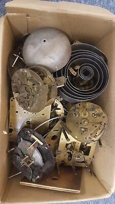 Antique clock parts Assorted Job lot