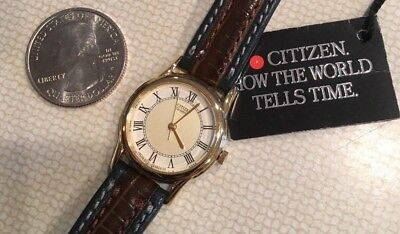 *brand New* Vintage - Citizen Ladies Quartz Watch With Leather Band