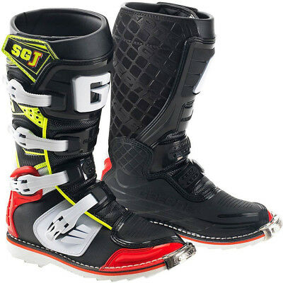 YOUTH KIDS GAERNE SG-J MOTOCROSS ENDURO MX BOOTS RED / YELLOW offroad quad bike