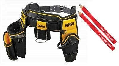 Dewalt DWST1-75552 Heavy Duty Tool Belt + 2 Trend Carpenters Pencils