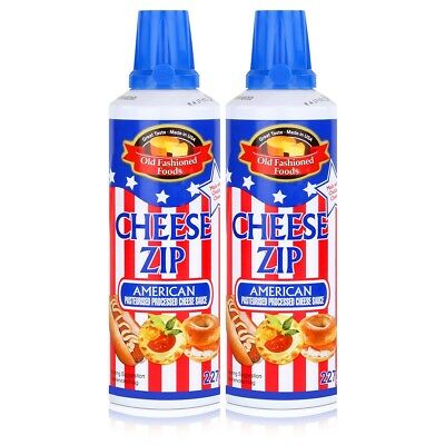 Old Fashioned Foods Cheese Zip 227g Amerikanischer Sprühkäse Cheddar (2er Pack)
