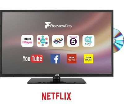 """JVC LT-24C685 24"""" Smart LED TV with Built-in DVD Player (HD Ready 720p)"""