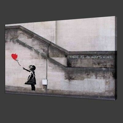 Banksy Graffiti Balloon Girl Printed Canvas Painting Wall Art Home Decor Picture