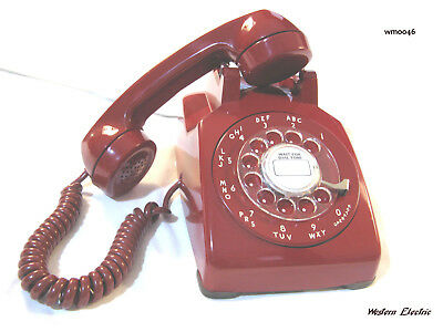 Cherry Red Western Electric Soft Plastic 50's Desk Phone L@@k !