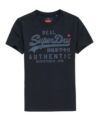 New Mens Superdry Vintage Authentic T-Shirt Eclipse Navy