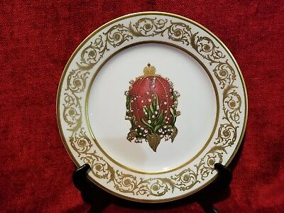 "Faberge Imperial Egg Collection Lilies Of The Valley EGG 11 3/4"" Charger"
