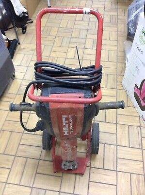 Hilti TE 3000 AVR  Jack Hammer Demolition Hammer With Bits And Carry Cart