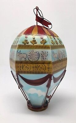 Smithsonian Institution 1997 Antique Christmas Ornament Hot Air Balloon