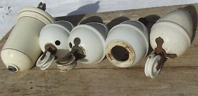 Lot Antique french Light Weights Porcelain Chandelier Rise and Fall Pulleys