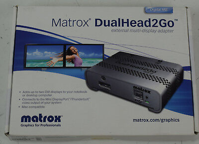 Matrox DualHead2Go D2G-DPD-MIF with 2 adpater Cables