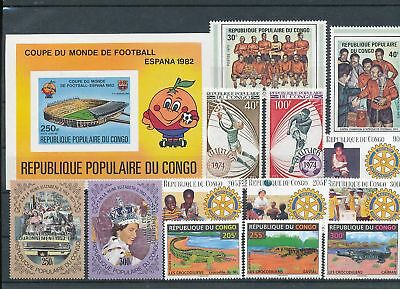 12041 / Afrika Lot ** MNH   Congo Rotary Royal Fauna