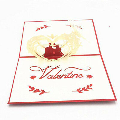 3D Paper Carving Greeting Invitation Card Valentines Birthday Blessing Gift 6A
