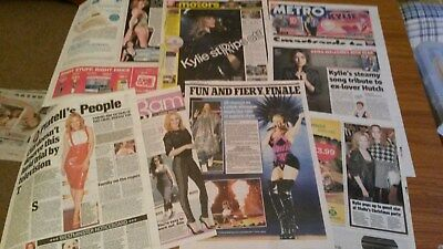 Collection of Kylie Minogue Newspaper Clippings 2014