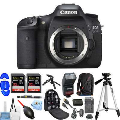 Canon EOS 7D 18MP DSLR Camera (Body Only) MEGA BUNDLE W/ Extra Battery & Charger