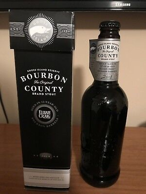 """2018 Goose Island Reserve Bourbon County Stout """"Empty Bottle With Box!"""