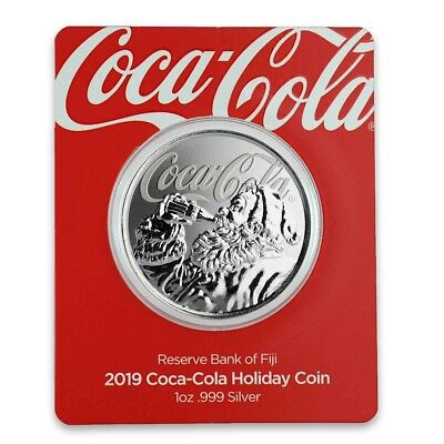 Coca-Cola® Holiday Coin - Limited Edition Silver 1 oz Certi-Lock® Fiji 2019