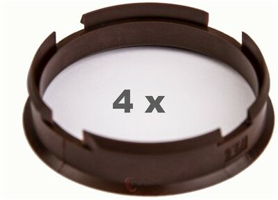 4x Centering Ring 72.6 mm on 66.6 mm Brown/Brown