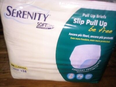 PANNOLONI SERENITY A SLIP PULL UP EXTRA large 42 PEZZI BE FREE SOFT DRY TRASPIR