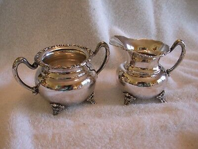 Gorgeous Sterling Silver Cream And Sugar Set In Excellent Condition