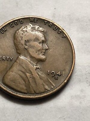 1941 S Lincoln Wheat Penny DDO Obverse Struck Grease Mint Error Coin Lot N62