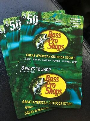 $50 Bass Pro Shops Physical Gift Card