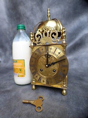 A Good Working St James Bell Strike 8 Day Lantern Clock With Key *br Connection*