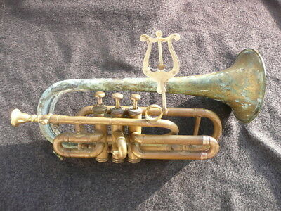 VERY RARE OLD FRENCH CORNET by GAUTROT made around 1860!