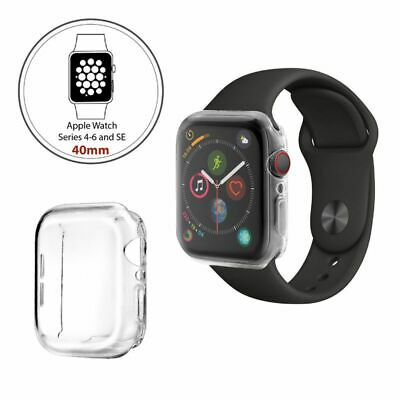 For Apple Watch Series 4 Clear TPU Full Cover Screen Protector Case 40mm 44mm