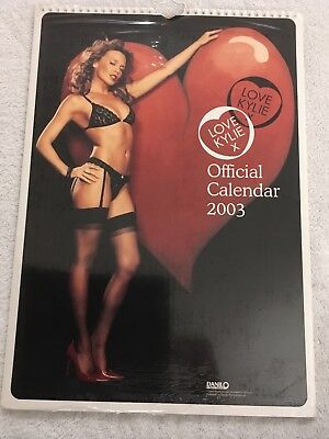 Kylie Minogue Official Love Kylie 2003 Calendar New And Sealed