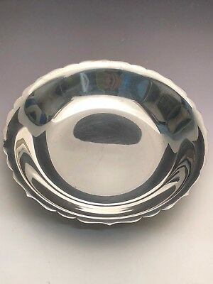 """Tiffany & Co. Sterling Silver, Low Bowl or Dish with Scalloped Edge 7 1/8"""""""